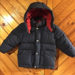Toddler Ralph Lauren Quilted Down Coat.